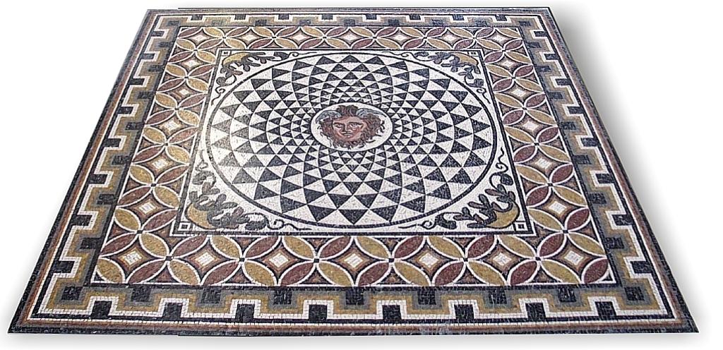 Il mosaico romano storia e tecniche di produzione for Pavimento con mosaico