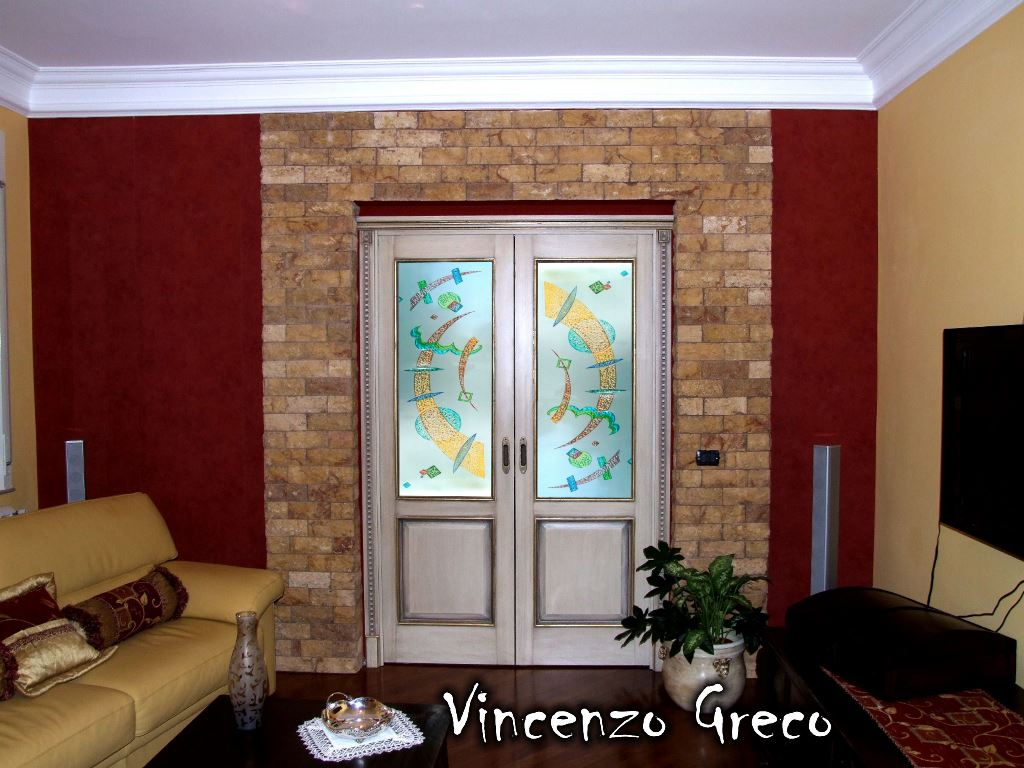 Vetrate artistiche per interni porte e finestre decorate for Arredamenti moderni per interni