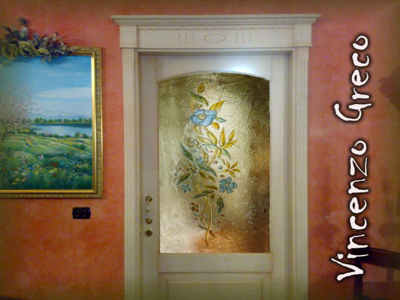 Vetrate artistiche per interni porte e finestre decorate - Porte decorate per interni ...